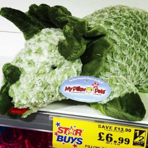 Dino & cars pillow pet £6.99 @ home bargains