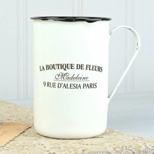 Vintage Parisian Cream Enamel Mug £3 delivered with free Delicates Link bracelet worth £9 @ Lisa Angel Jewellery