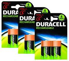 Duracell Rechargeable C Size Batteries--Pack of 6 £5.64 @ Amazon (free delivery £10 spend/prime/locker)