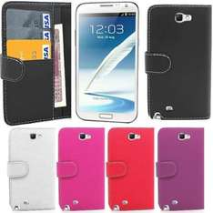 Flip Leather Wallet Case Cover For Samsung Galaxy Note 2 II N7100 *FREE FILM* and stylus 99p via gadget_giant_ltd on ebay