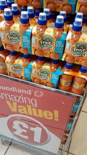 4 x pack Orange Fruit Shoot £1 in Poundland