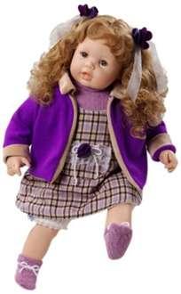 Berjuan Anne Doll in Lilac Wool Dress £19.64 at Amazon