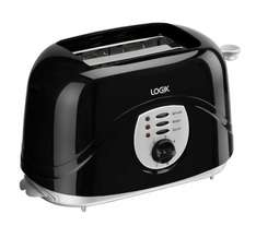 Logik L02TB13 2 Slice Black Toaster £4.99 + Free Delivery option @ Currys