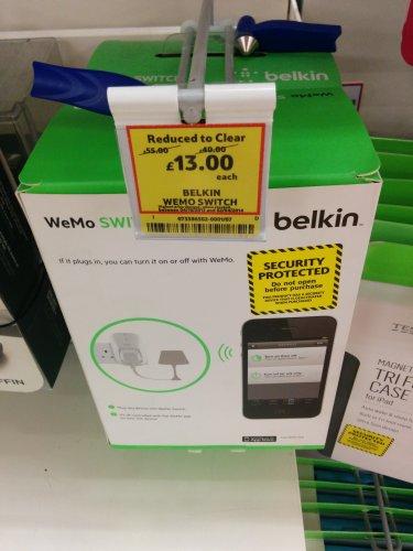 Belkin WeMo Switch £13.00 @ Tesco (Instore - National)