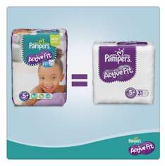 Pampers Active Fit Size 5+ (Junior+) Monthly Pack -124 Nappies £18.24 @ Amazon