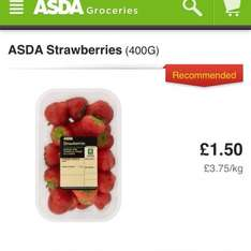 Asda Strawberries 50p a punnet,
