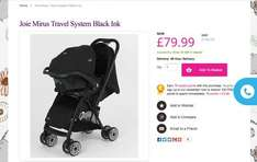 Joie Mirus travel system just £79.99 at Kiddisave