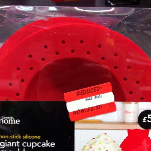 Non-stick silicone giant cupcake mould £2.50 @ ASDA