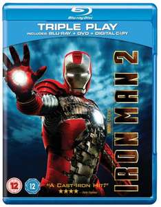 Iron man 2 (2010) BLU-RAY+DVD £4.94 at play/ ent warehouse
