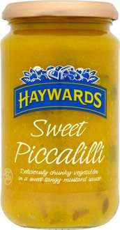 Haywards Normal (460g) was £1.89 now £1.00 & Sweet Piccalilli (454g) was £2.09 now ONLY £1.00 @ Sainsbury's