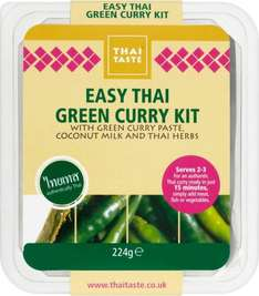 Thai Taste Green or Red Curry Meal Kit (224g) was £2.28 now £1.50 (Rollback Deal) @ Asda