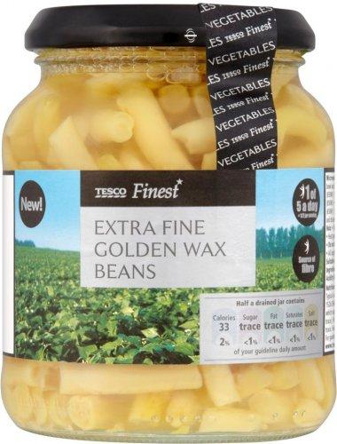 BOGOF - 45P - fresh can extra fine golden wax beans 340g @ Tesco instore