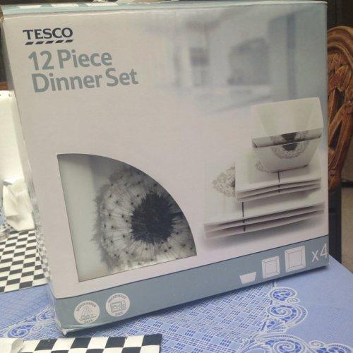 Tesco dinner set. £5. Cradley Heath.