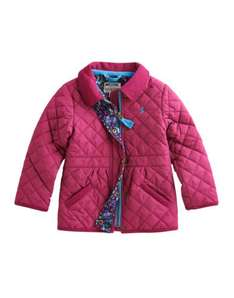 Joules Junior Jinty Girls Quilted Jacket Stylish in Ruby/Navy £15 @ Joules eBay outlet