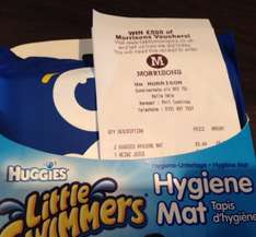 Morrisons in-store. Huggies, Little Swimmers Hygiene mat only £3.44. Blue or green.
