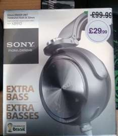Sony MDR-XB910 Extra Bass Headphones - Silver £29.99 (RRP £199) @ HMV