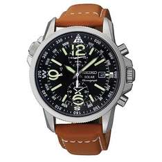 Seiko Solar Men's Chronograph Black Dial Strap Watch £98.99 from H.Samuel