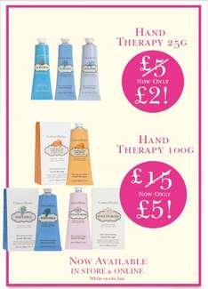 crabtree-evelyn on sale- Hand Therapy Creams 25g for only £2 and 100g for only £5! (order £20 free delivery otherwise £2.50 P&P)