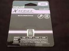 Maxell 32GB Micro SDHC card for £2.50 (was £5.50, few weeks ago) @ ASDA Instore