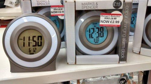 M&S Digital Clock was £15 now £2.99 instore