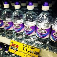 Highland Spring water 3 for £1 @ Home bargains