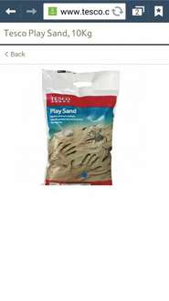 Tesco Play sand 10kg bags 2 for £4 scanning at 2 for £3!!!