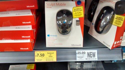 Microsoft Sculpt Mobile mouse £7.50 tesco instore
