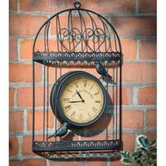 metal BIRD CAGE WALL CLOCK in black £9.99 instore and online (poundstretcher)