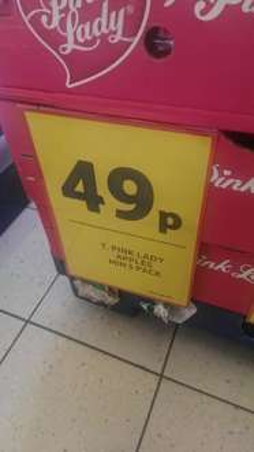 Pink Lady Apple's 49p at Tesco Express