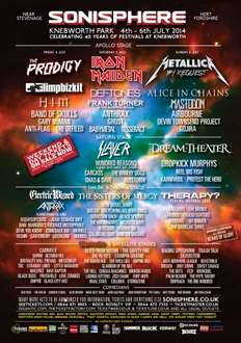 Sonisphere weekend and 12 months Classic Rock/Metal Hammer £120 @ Team Rock