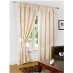 fully lined sicily jacquard curtains with tiebacks 46x72 now £7.99 @ B&M Retail instore & online