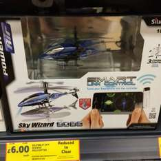 Remote Control Helicopter (Smartphone controlled) £6 @ Tesco instore