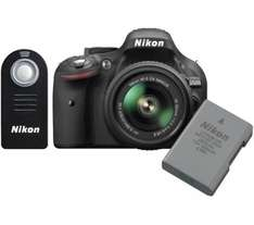 NIKON D5200 DSLR Camera +18-55 mm VR II  Lens + Remote Control + Extra Battery for £485 @ Currys (£410 after nikkon cash back and O2 priority)