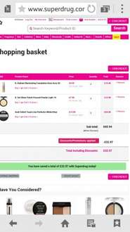 SUPERDRUG GLITCH BUY ONE GET ONE FREE/ 50 Off total order value ! ON GOSH AND B MAKE UP