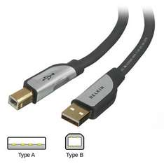 1.8m Belkin Premium Series USB 2.0 Gold Plated Cable with LED - Type A (Male) to Type B (Male) retail parked £1.56 click and collect @ eBay seller scancomputers_int