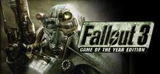 Fallout 3 PC £2.49 & Game of the Year Edition £3.74 from Steam