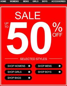 Barratts.co.uk running a sale of up to 50% off