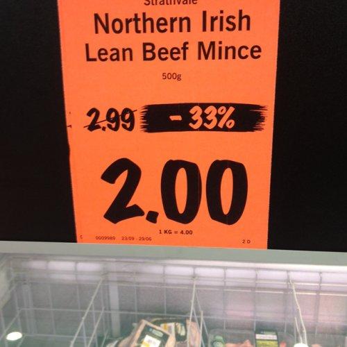 Lidl lean mince now £2.00