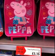 Peppa pig wheeled case reduced to £3.16 at Morrison's Instore (Mosborough Sheffield)