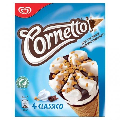 4 Cornettos Classic - Strawberry - Mint 99p @ Morrisons