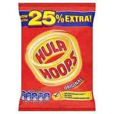 Hula hoops 43g bag 10p a bag in b&m