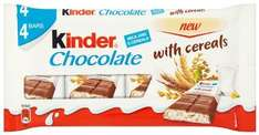 Kinder Chocolate with Cereals 94 g (Pack of 8) £2.57 @ Amazon (add-on item)
