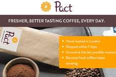 1st bag of coffee and delivered for £1.00 (Normally £6.95) for 250g of ground coffee with code see description @ Pactcoffee.com