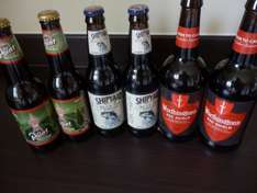 B & M:  Real ales and stouts for 79p a bottle