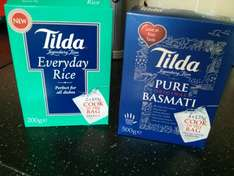Tilda boil in the bag basmati rice box of 4 74p. Also box of 2 everyday rice 37p instore tesco