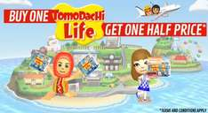 Buy a Copy of Tomodachi Life (Download) from GAME and get a 2nd copy half price - £29.99 (Total £44.99)