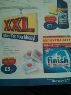 Lidl Finish Powerball Dishwasher Tablets 26 + 26 £5.00 from  Thursday 26th June