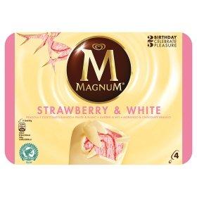 Magnum Strawberry & White Ice Cream 4 Pack 1.50 @ ASDA
