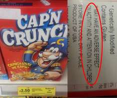 Reduced from £7 down to £2.50. Unhealthy & Delicious US cereals - Cap'N CRUNCH - Tesco Instore - National