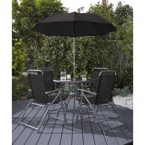 Wilko Garden Furniture Round Patio Set Black 6 Piece £50 @ Wilkinson